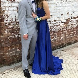 Sherri Hill Dress Size 00 51631 Royal Blue